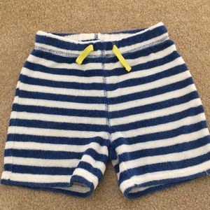 Mini Boden boys toweling shorts size 2T